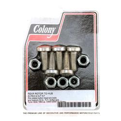 Schrauben- und Mutternsatz für Bremsscheibe hinten Zink Torx 92-20 Softail, Dyna, FLT / Touring, XL
