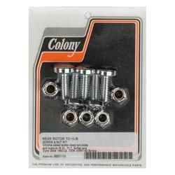 Schrauben- und Mutternsatz für Bremsscheibe hinten Chrom Torx 92-20 Softail, Dyna, FLT / Touring, XL
