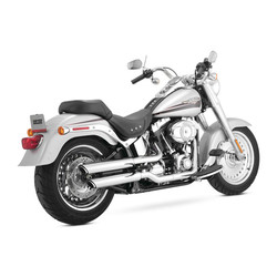 Twin Slash 3 Inch Slip-Ons 07-16 Softail (Select Color)