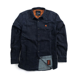 Tragen Sie Premium Denim Shirt Blau