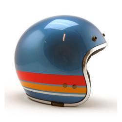Jettson Bronco Helm glänzend blau