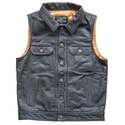 Blood Moon Leather Vest Black