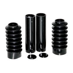 6-delige vorkbuisafdekkingsset - glanzend zwart