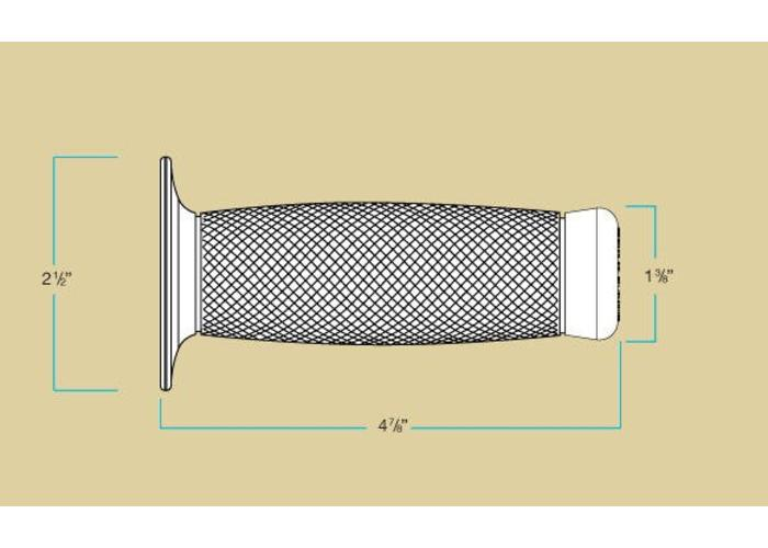 "Biltwell 1"" / 25.4mm Renegade Grips Cream"