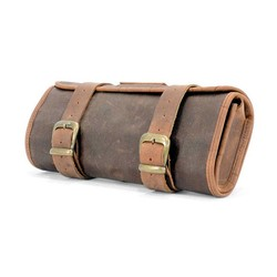 Long Ride Waxed Cotton Toolbag with Leather Finish