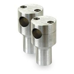 """3 """" Gebürstetem Aluminium Riser"""