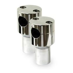 """3 """"polierte Aluminium Risers"""
