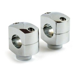 """1 Inch Domed Riser (1,25 """"- 5"""") Schwarz & Chrom HD 73-02 BT, TC / B, XL (EXCL. FLT)"""