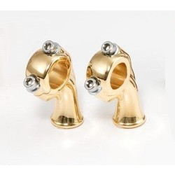 "2.5"" Polished Brass Deluxe Risers met 1"" pullback"