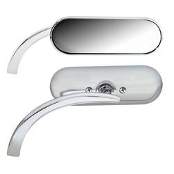 Mini Oval Spiegel Chrom