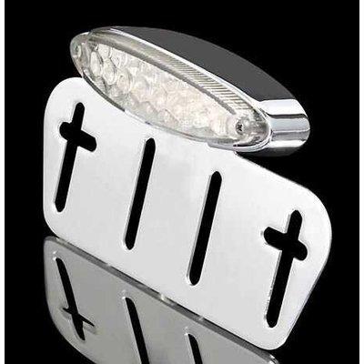 Support de plaque universel avec feu arrière à LED