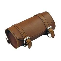 Trousse à outils en cuir brun pour fourche