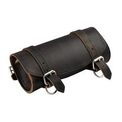Trousse à outils en cuir brun rustique pour fourche