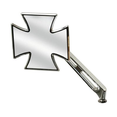 Rétroviseur avec tige à fentes - Croix maltaise - Droit