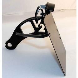 Genscher Sidemount für HD-Softail-Modelle 84-07 Schwarz