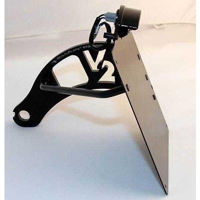 Genscher Sidemount voor HD Softail modellen 84-07 Zwart