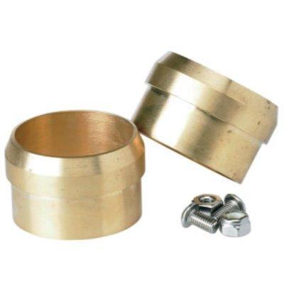 """Lowbrow Customs Kit d'embouts 45 mm (1,75"""") en laiton pour pot d'échappement"""
