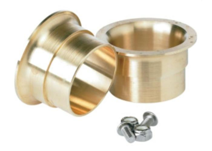 Lowbrow Customs Set 45mm - 1,75 Inch Brass Trumpet Tips