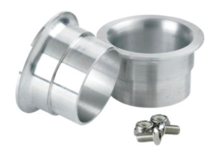 Lowbrow Customs Set 45mm - 1,75 Inch Aluminium Trumpet Tips