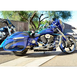 2 Into 1 Hotrod Chrome Exhaust Victory Bagger / Touring