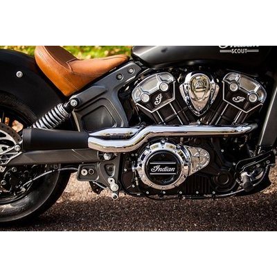 Trask 2 Into 1 Black/Chrome Exhaust System Indian Scout