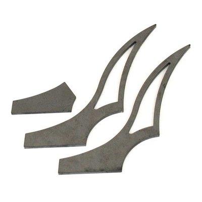 BK Products 280-300MM Kit d'accessoires pour garde-boue arrière Stiletto - Medium