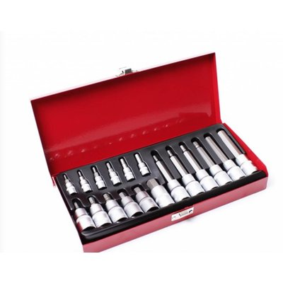 Hex Socket Set - Extra Strong 18 Parts