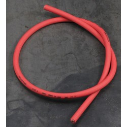 Silicone Zundkerze Kabel 7MM Rot 100CM