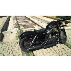 Twin Slash Slip-On Exhaust Black