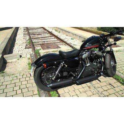 Vance & Hines Twin Slash Slip-On Exhaust Black