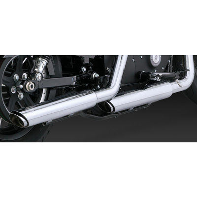 Vance & Hines Twin Slash Slip-On Exhaust Chrome XL 14-16