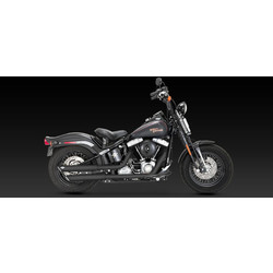 Twin Slash Slip-On Exhaust Black Ceramic