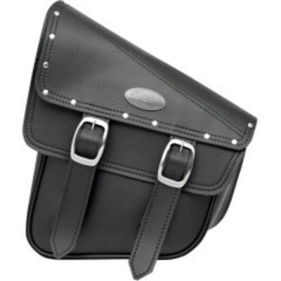 Swingarm Storage Bags For Softails Accent Studs Black