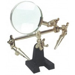 Third hand with magnifier