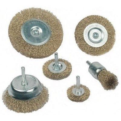 Mannesmann Kit de brosses métalliques - 6 pièces