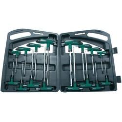 Kit de clés en T hexagonales / Torx - 16 pièces