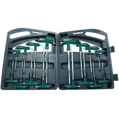 Mannesmann Kit de clés en T hexagonales / Torx - 16 pièces
