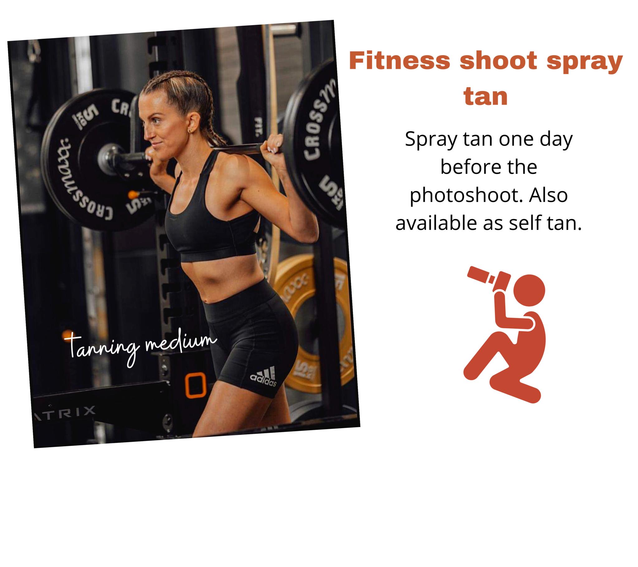 fitness shoot spray tanning