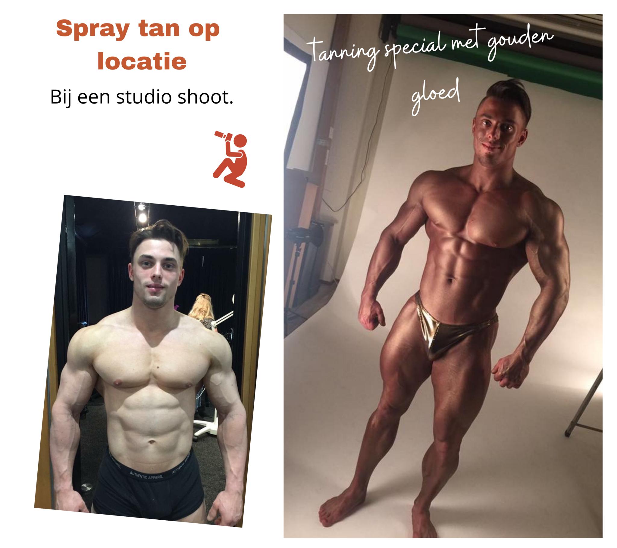 spray tan voorbeeld luxe