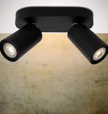 Cylinder ceiling light white or black orientable GU10x2