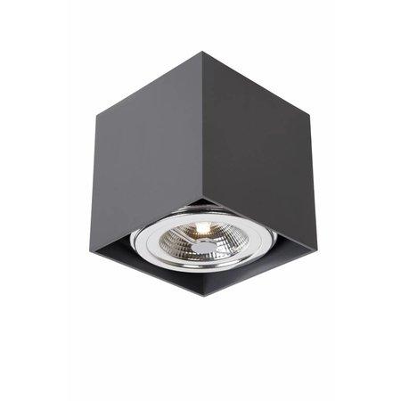 Plafondspot LED opbouw wit, grijs, vierkant 12W