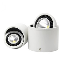 Spot plafond design blanc, noir sans transfo 360° 7W