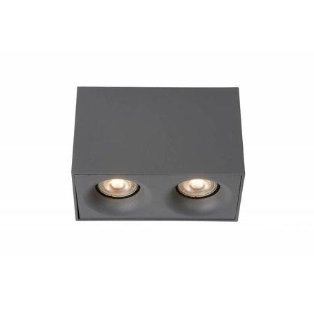 Design plafondspot LED wit, grijs GU10 2x4,5W