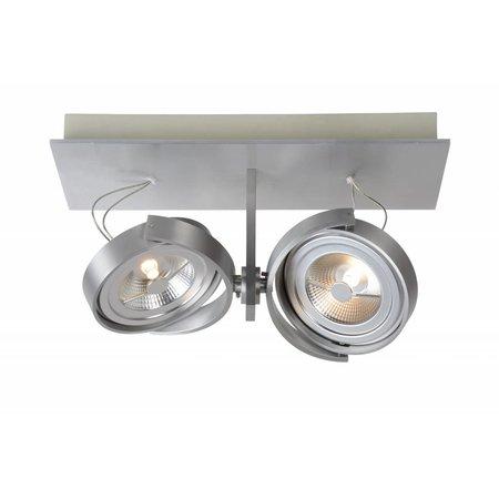 Plafondspot LED wit, grijs richtbaar 2x12W 33cm lang