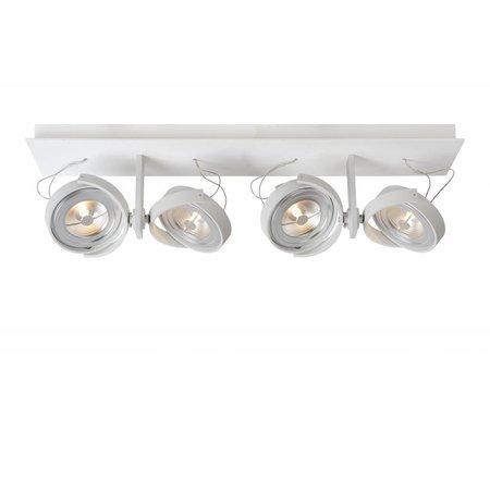 Plafondspot LED wit, grijs richtbaar 4x12W 67cm lang