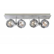 Spot plafond LED blanc, gris orientable 4x12W 67cm