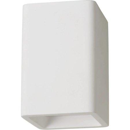 Plafondlamp wit gips vierkant fitting GU10 135mm hoog