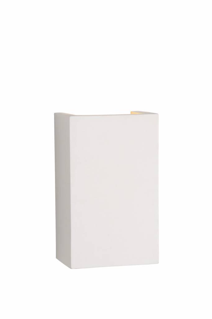 Applique Murale Plâtre Blanche Rectangulaire G9 18x11cm Myplanetled