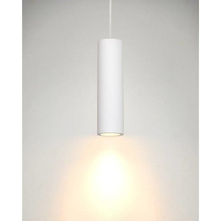 Hanglamp wit gips cilinder GU10 25cm hoog