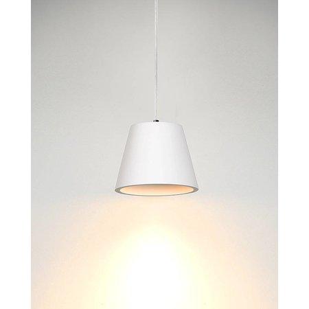 White pendant light plaster conical GU10 10cm H